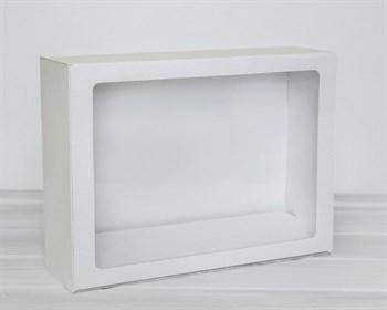 Коробка с прозрачным окошком 40х30х12, белая - фото 5361