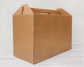 Коробка картонная с ручкой 50х25х32,5 см, крафт