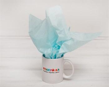 Бумага тишью, светло-голубая, 50х66 см - фото 5385