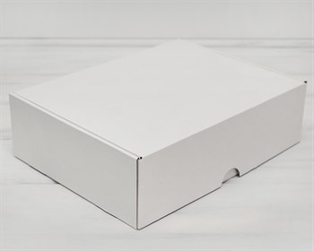 Коробка для посылок, 35х26,5х10 см, из плотного картона, белая - фото 5394