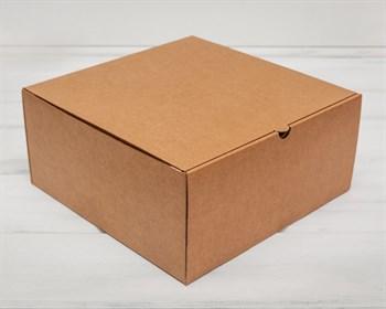 Коробка для высокого пирога 28х28х13 см из плотного картона, крафт - фото 5402