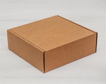 Коробка для посылок 18,5х18,5х6,5 см, крафт - фото 5412