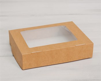 Коробка для выпечки и пирожных, 20х15х4,5 см, крафт - фото 5423