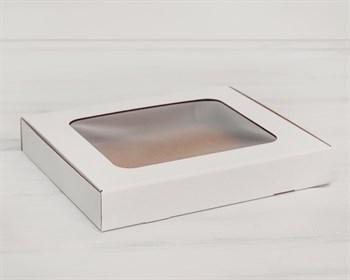 Коробка плоская с окошком, 30х25х4,5 см, белая - фото 5428