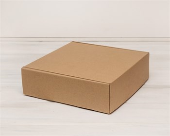 Коробка для посылок 28х28х8,5 см, крафт - фото 5447