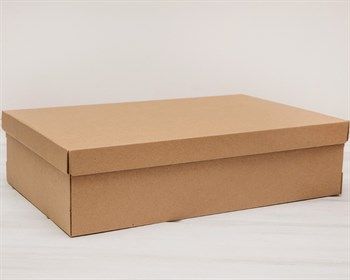 Коробка из плотного картона, 42,5х27х11 см, крышка-дно, крафт - фото 5455