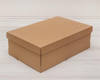 Коробка из плотного картона, 33,5х22х11,5 см, крышка-дно, крафт - фото 5457