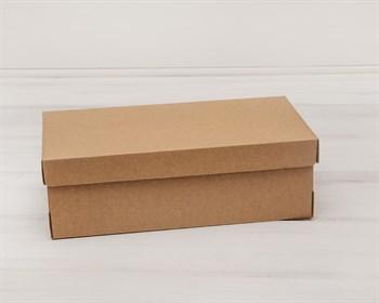 Коробка из плотного картона, 30,5х16х10 см, крышка-дно, крафт - фото 5459