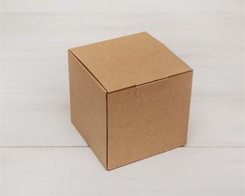Коробка для посылок, 12х12х12 см, из плотного картона, крафт - фото 5470