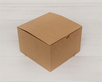 Коробка для посылок, 17х17х11 см, из плотного картона, крафт - фото 5479
