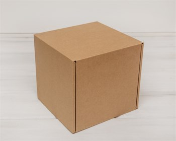 Коробка для посылок, 19х19х19,5 см, из плотного картона, крафт - фото 5482
