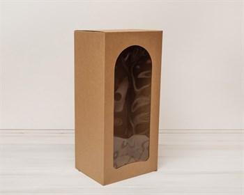 Коробка для кукол, с окошком, 50х24х18 см, крафт - фото 5502