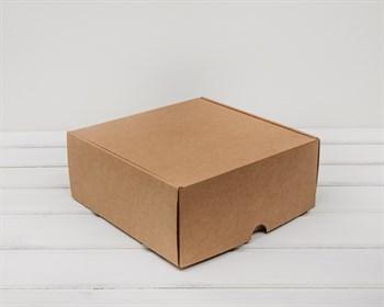 Коробка для посылок, 24х24х10 см, из плотного картона, крафт - фото 5547
