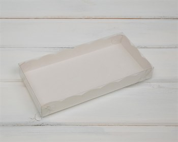 Коробка с прозрачной крышкой Ажурная, 20х10х2,5 см,  белая - фото 5577
