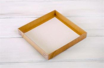 Коробка с прозрачной крышкой Классика, 20х20х3 см, двусторонняя - фото 5592