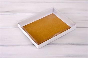 Коробка с прозрачной крышкой Классика, 26х21х4 см, двусторонняя - фото 5593