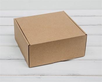 Коробка для посылок, 20х20х9 см, из плотного картона, крафт - фото 5626