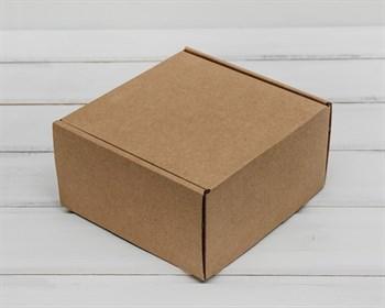Коробка для посылок, 15х15х8 см, из плотного картона, крафт - фото 5631