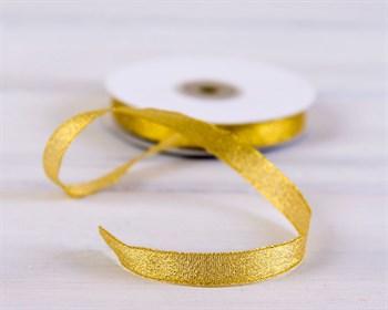 Лента металлизированная, 12 мм, золотая, 1 м - фото 5637