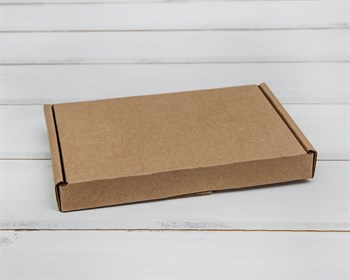 Коробка плоская, 16х11х2 см, крафт - фото 5647