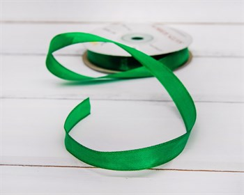 Лента атласная, 12 мм, зеленая, 1 м - фото 5740