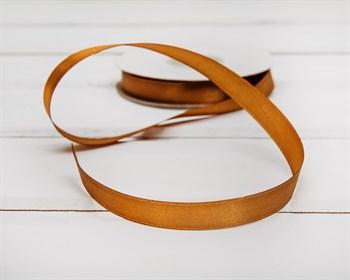 Лента атласная, 12 мм, светло-коричневая, 1 м - фото 5744