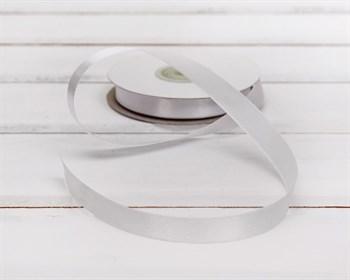 Лента атласная, 12 мм, белая, 1 м - фото 5745