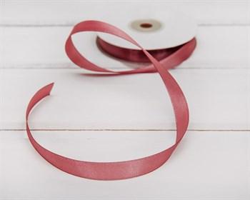 Лента атласная, 12 мм, темно-розовая, 1 м - фото 5746