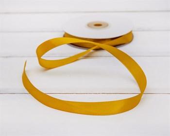 Лента атласная, 12 мм, золотая, 1 м - фото 5753