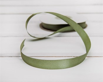 Лента атласная, 12 мм, нежно-зеленая, 1 м - фото 5758