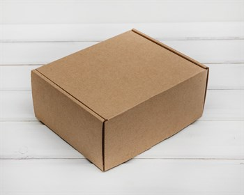 Коробка для посылок, 19х16х8,5 см, из плотного картона, крафт - фото 5775