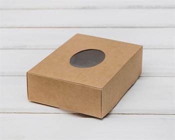 Коробка маленькая с окошком, 12х9х3,5 см, крафт - фото 5820