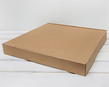 Коробка плоская 40х40х5 см, крафт - фото 5824