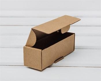 Коробка маленькая, 10,6х3,5х3,5 см, из плотного картона, крафт - фото 5827