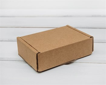 Коробка маленькая, 10х7,5х3 см, из плотного картона, крафт - фото 5840