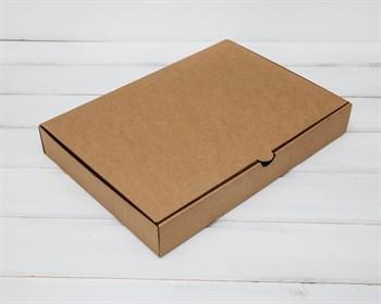 Коробка плоская 33х23х5 см, крафт - фото 5862