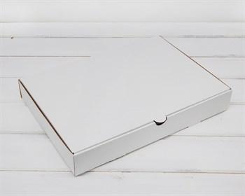 Коробка плоская 33х23х5 см, белая - фото 5863