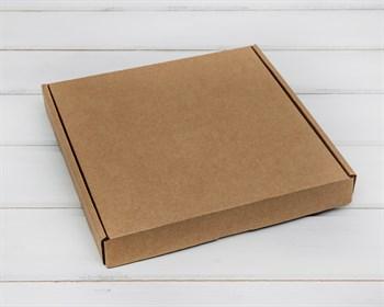 Коробка плоская 20,5х20,5х3 см, крафт - фото 5868