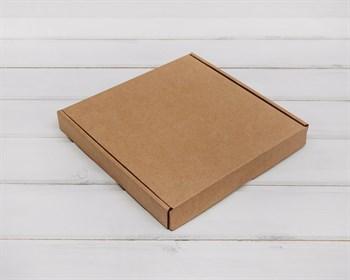 Коробка плоская 22,5х22,5х3 см, крафт - фото 5883
