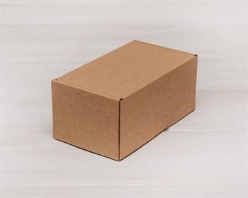 Коробка для посылок, 17х10х8 см, из плотного картона, крафт - фото 6015