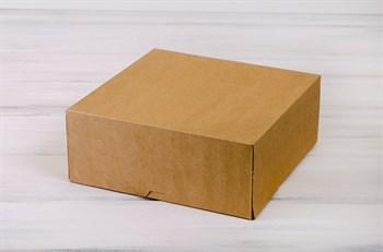Коробка для торта от 1 до 3 кг,  25,5х25,5х10,5 см, d= 15-25 см, крафт - фото 6049