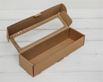 Коробка для  Вкусной  ложки, 25х8х5 см, с прозрачным окошком, крафт - фото 6075