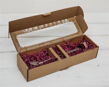 Коробка для  Вкусной  ложки, 25х7,5х5 см, с прозрачным окошком, крафт - фото 6076