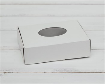 Коробка маленькая с окошком, 12х9х3,5 см, белая - фото 6147