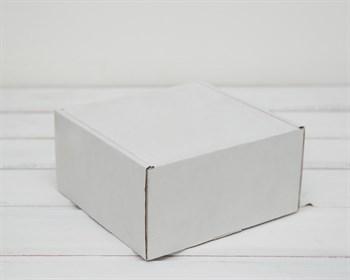 Коробка для посылок, 15х15х8 см, из плотного картона, белая - фото 6192