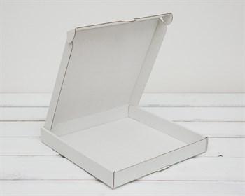 Коробка плоская 40х40х5 см, белая - фото 6198
