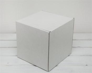 Коробка для посылок, 19х19х19,5 см, из плотного картона, белая - фото 6217