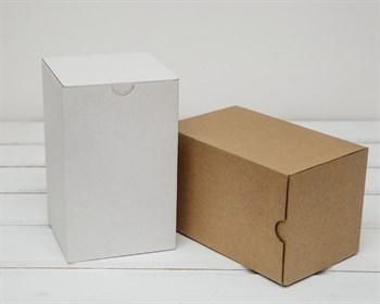 Коробка для посылок, 10х10х16 см, из плотного картона, белая - фото 6236