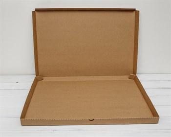 Коробка плоская 61х41х3,5 см, крафт - фото 6265