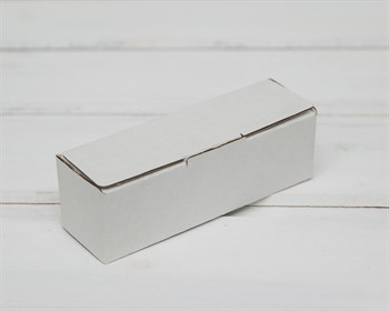 Коробка маленькая, 10,6х3,5х3,5 см, из плотного картона, белая - фото 6273